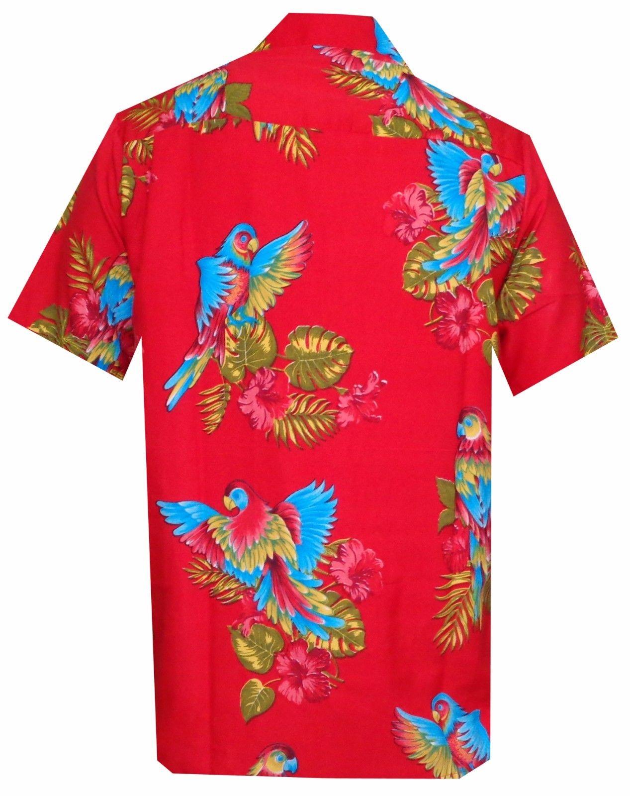 d11c62d6 Hawaiian Shirt Mens Parrot/Toucan Print Beach Aloha Party Holiday ...