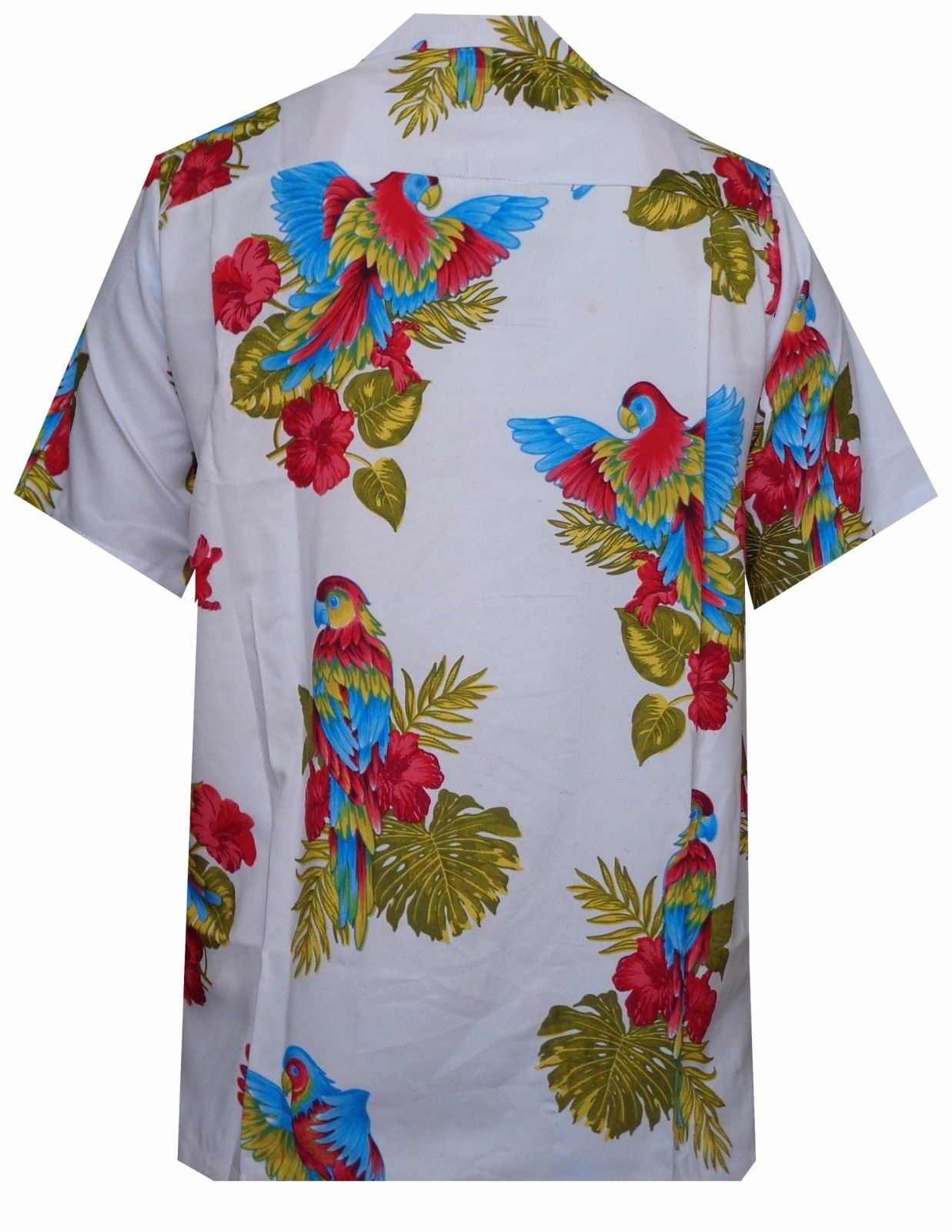 Hawaiian-Shirt-Mens-Parrot-Toucan-Print-Beach-Aloha-Party-Holiday-Camp thumbnail 16