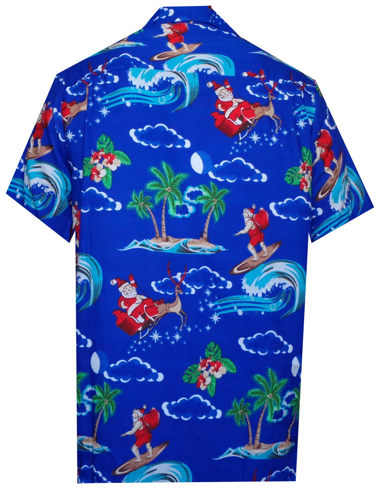 Christmas Hawaiian Shirt Australia.Hawaiian Shirt Mens Christmas Santa Claus Party Aloha Holiday Beach Ebay