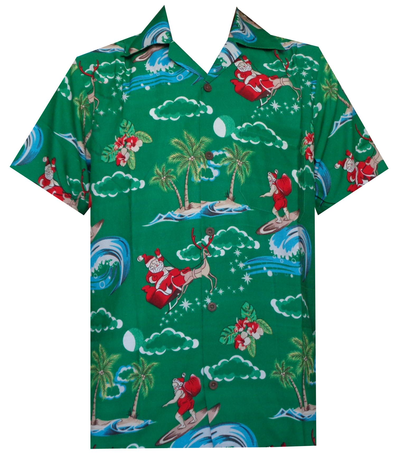 93eac704 Alvish Hawaiian Shirt 41 Mens Christmas Santa Claus Party Aloha ...