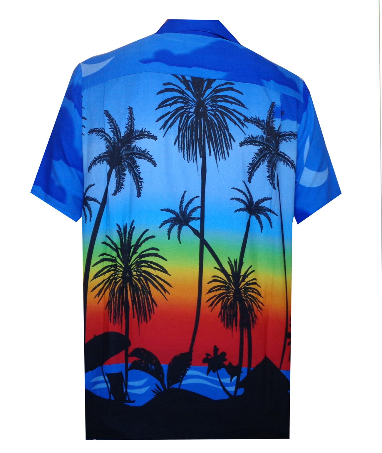 Hawaiian-Shirt-5-Mens-Allover-Coconut-Tree-Print-Beach-Aloha-Party thumbnail 11