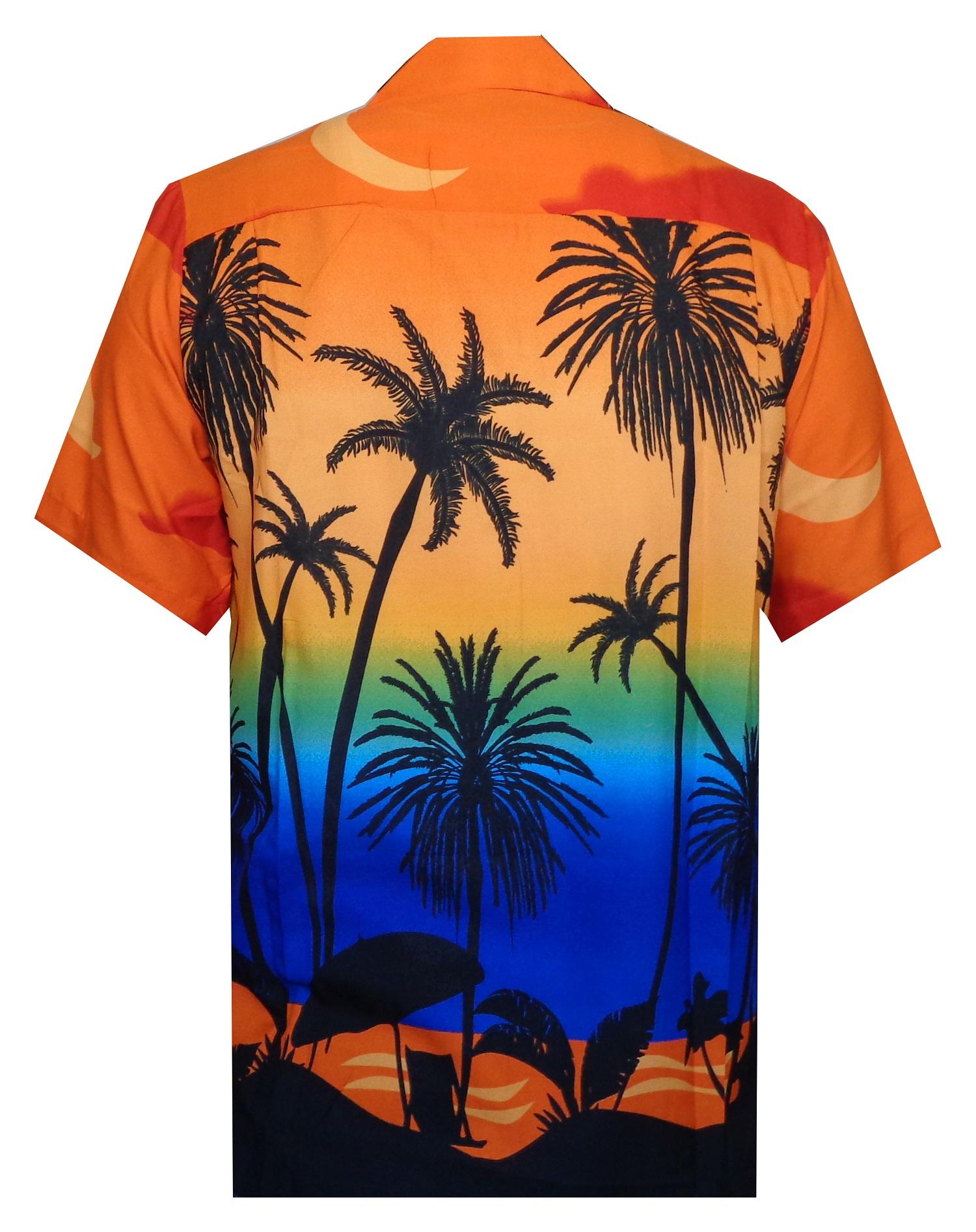 Hawaiian-Shirt-5-Mens-Allover-Coconut-Tree-Print-Beach-Aloha-Party thumbnail 8