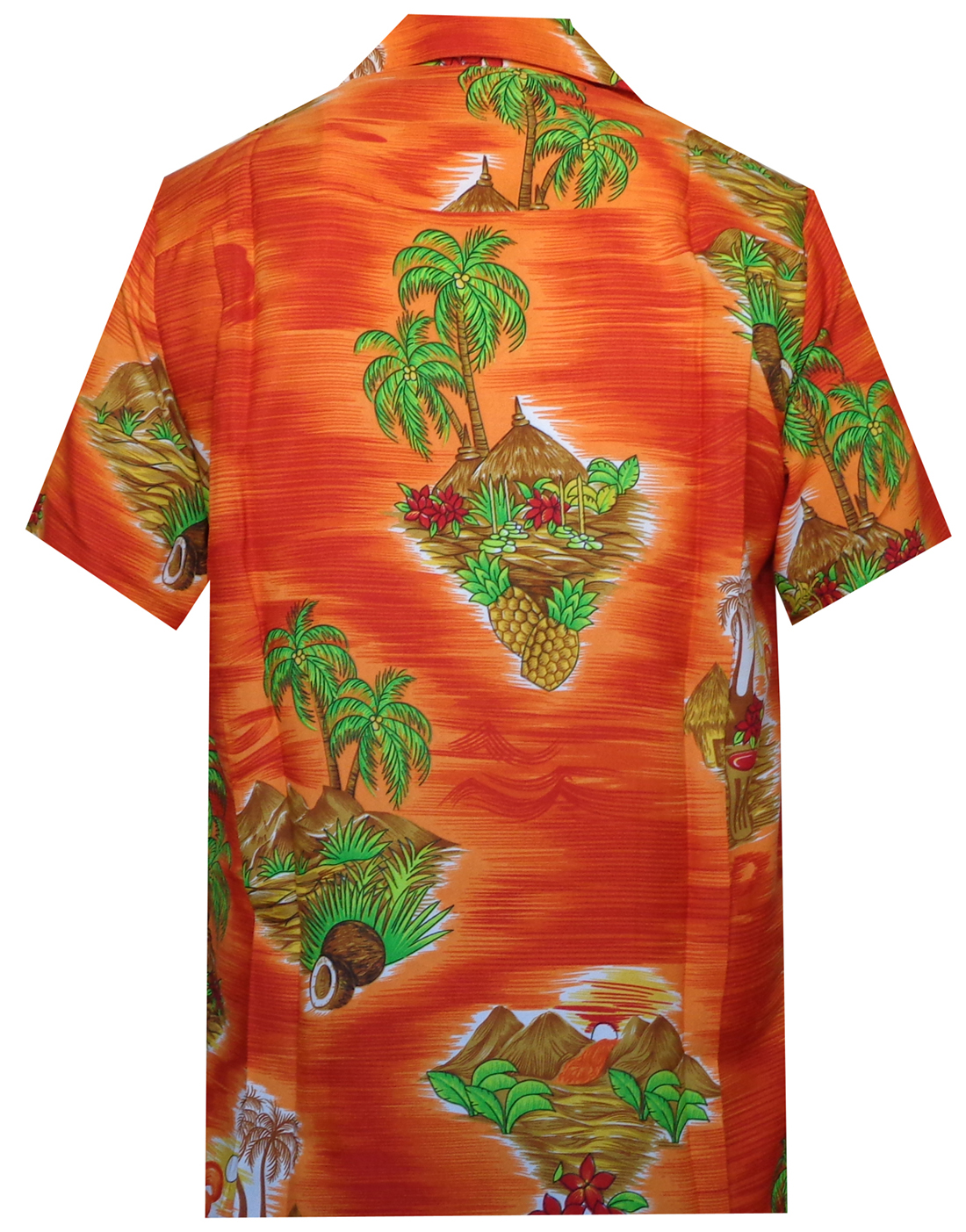Hawaiian-Shirt-Mens-Scenic-Flower-Print-Beach-Aloha-Party-Holiday-Camp thumbnail 23