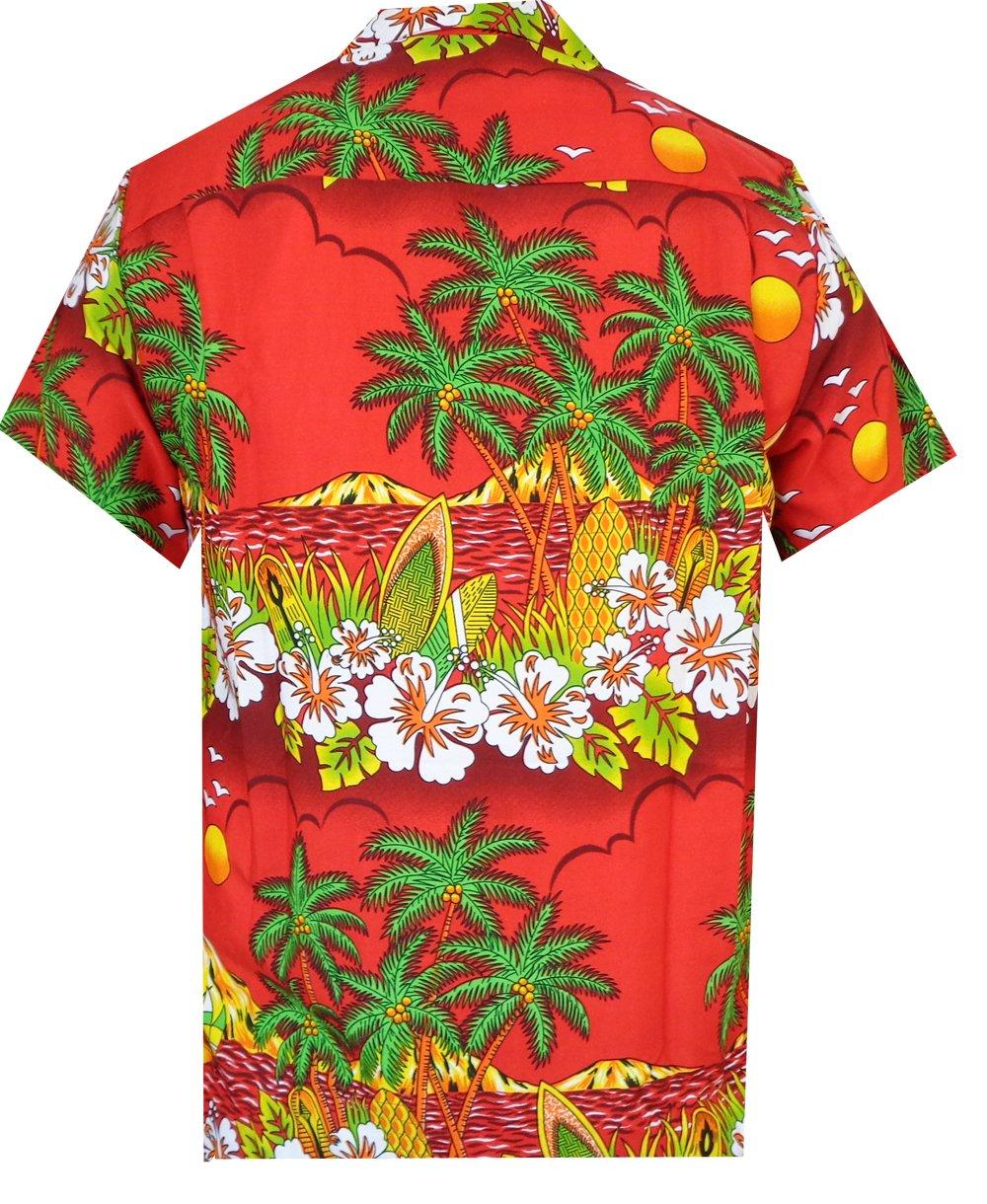 Hawaiian-Shirts-Mens-Floral-Scenic-Beach-Aloha-Party-Camp-Short-Sleeve-Holiday thumbnail 2
