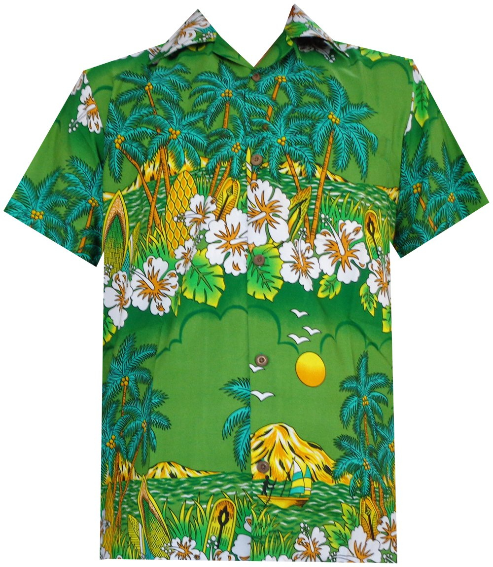 Hawaiian Shirts Boys allover Print Beach Aloha Party Camp Short Sleeve Holiday
