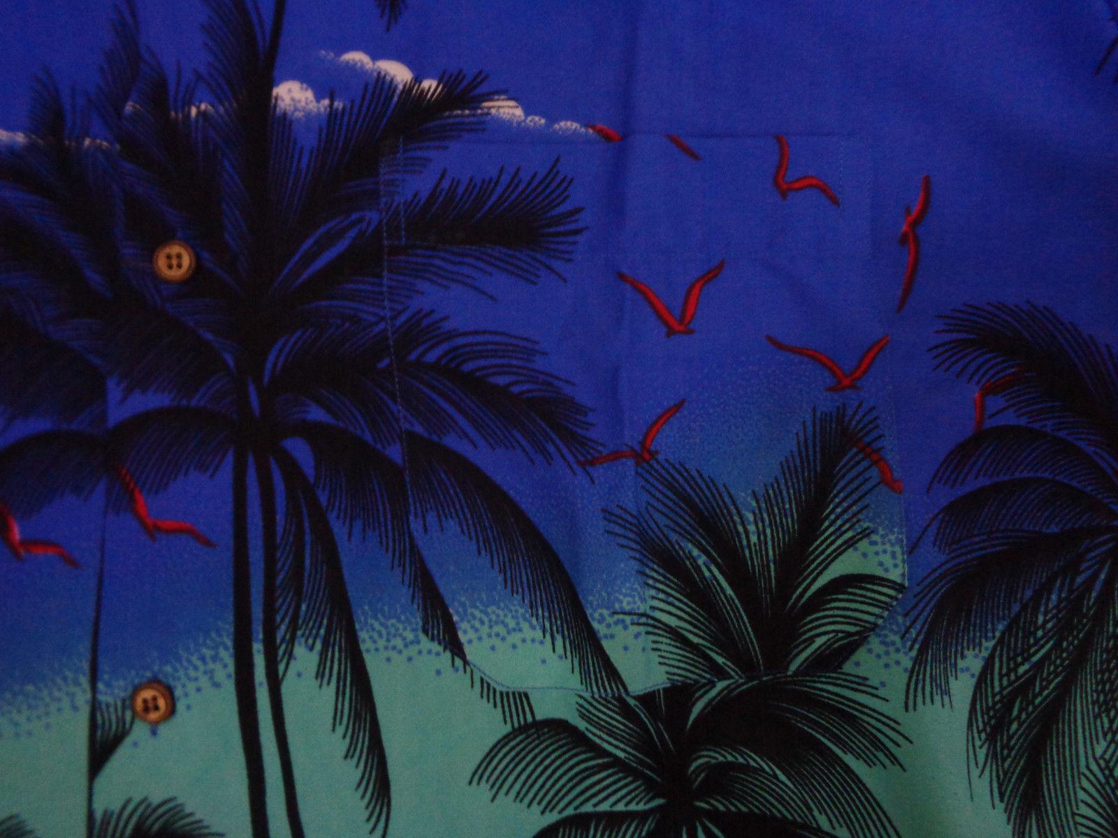 Hawaiian-Shirt-Mens-Coconut-Tree-Print-Beach-Camp-Party-Aloha-Beach-Holiday-Camp thumbnail 5