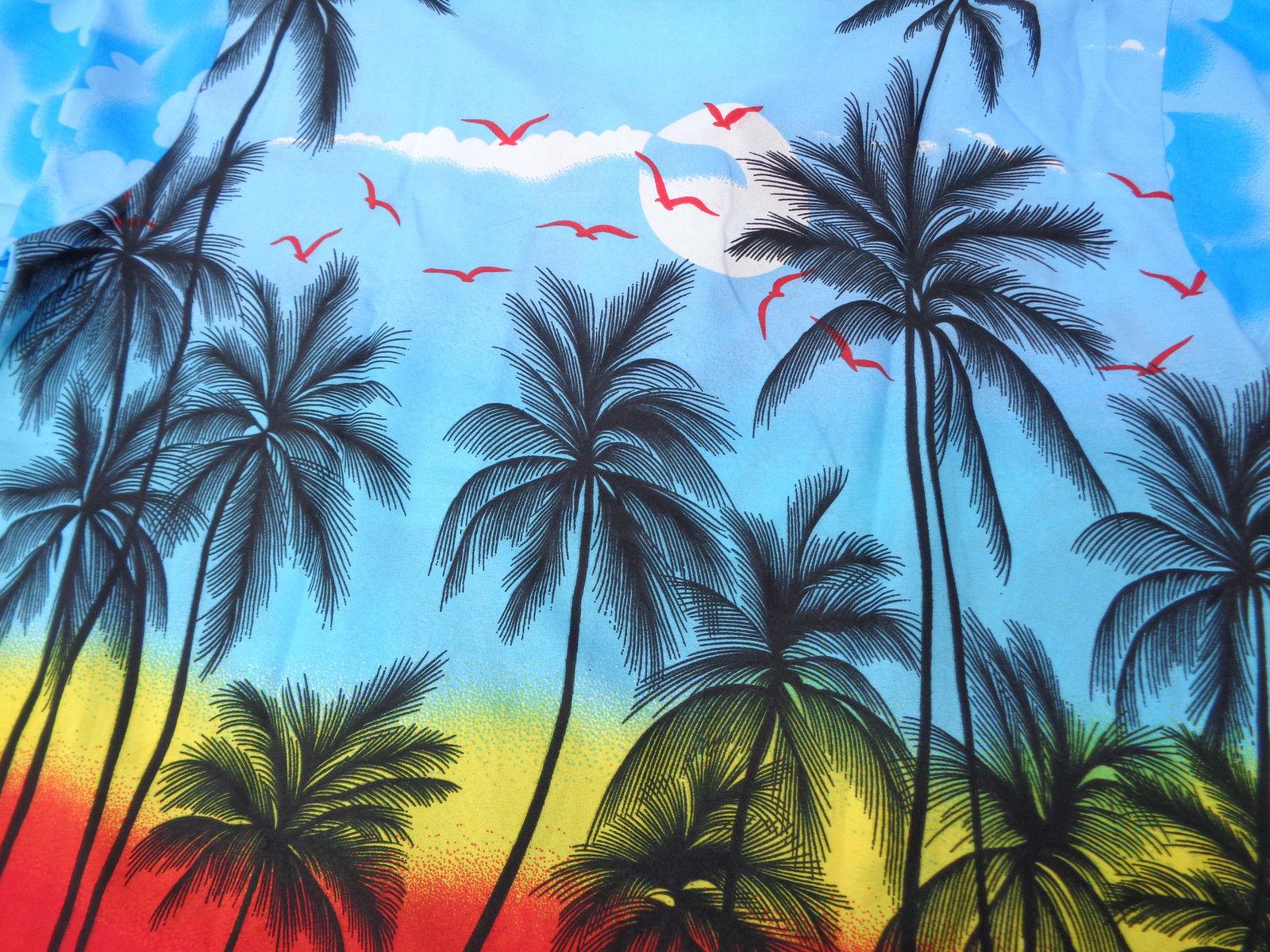Hawaiian-Shirt-Mens-Coconut-Tree-Print-Beach-Camp-Party-Aloha-Beach-Holiday-Camp thumbnail 11