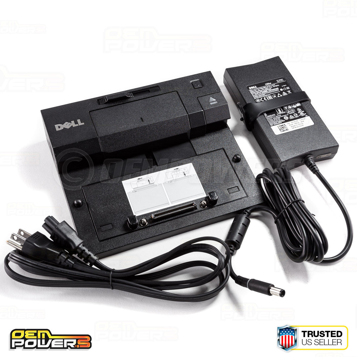 Details about Dell E-Port Docking Station Replicator M2800 E5250 E5540  E6440 +PA-4E AC Adapter