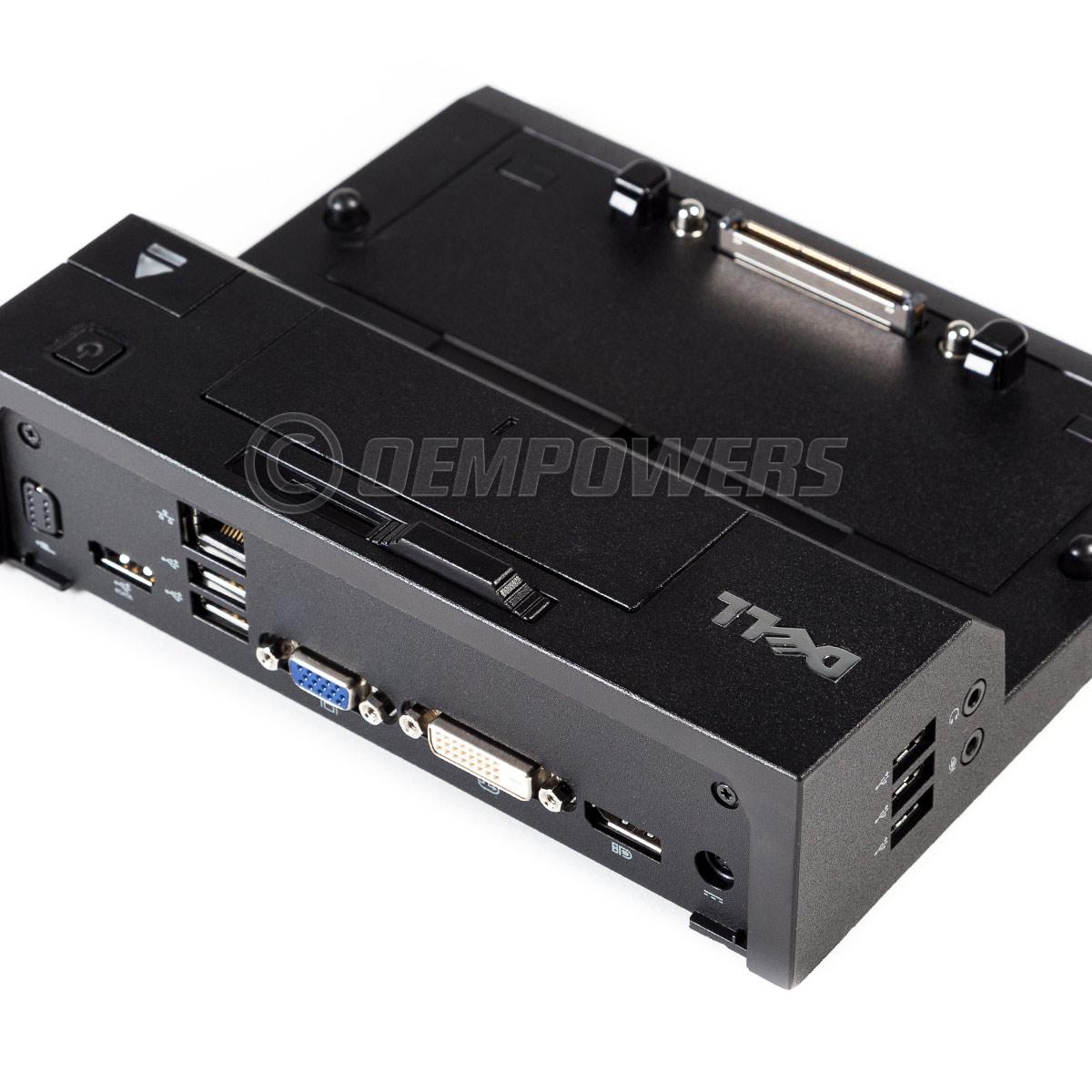 Dell e port replicator docking station with pa 7e 210 watt ac power adapter ebay - Docking station port replicator ...