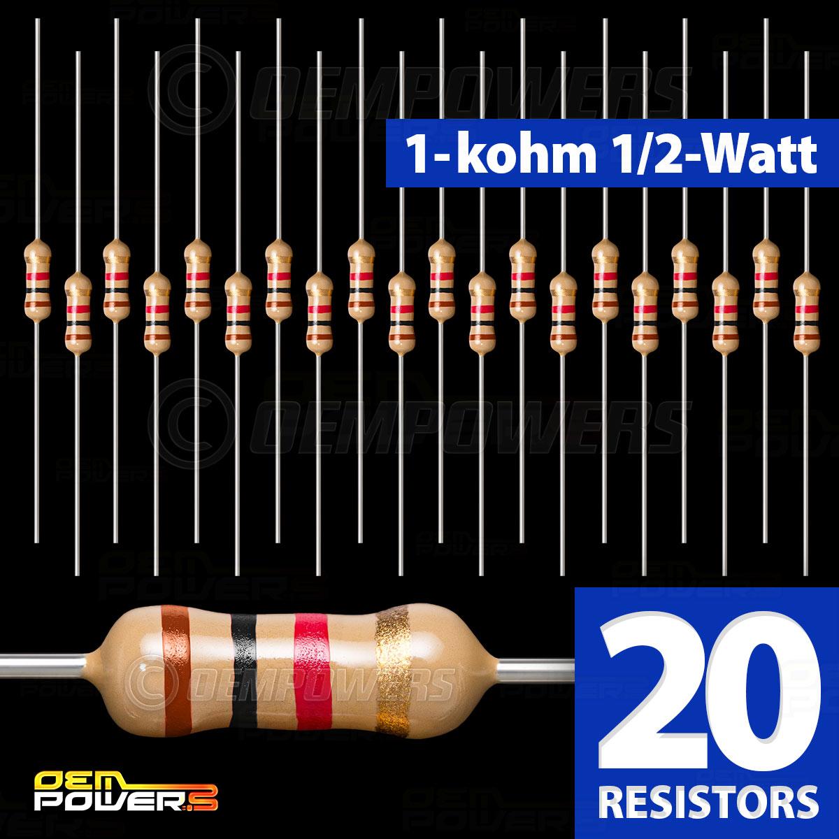 5-PACK 10K ohm Resistor 1//2 watt 5/% metal film resistors
