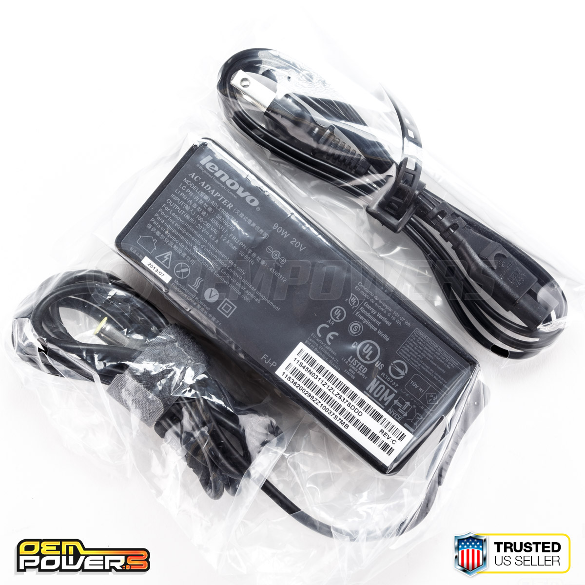 Details about Genuine Lenovo 90W 20V 4 5A Laptop AC Power Adapter Charger  ADLX90NLT2A 45N0307