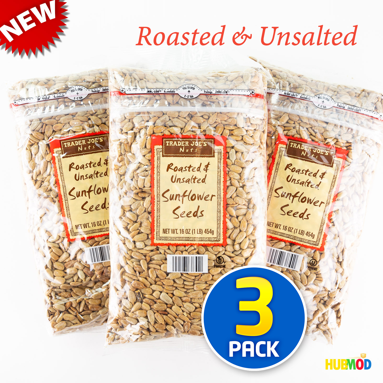 Details About New Trader Joe S Nuts Sunflower Seeds Roasted Unsalted 16oz 1lb Bag 3 Pack