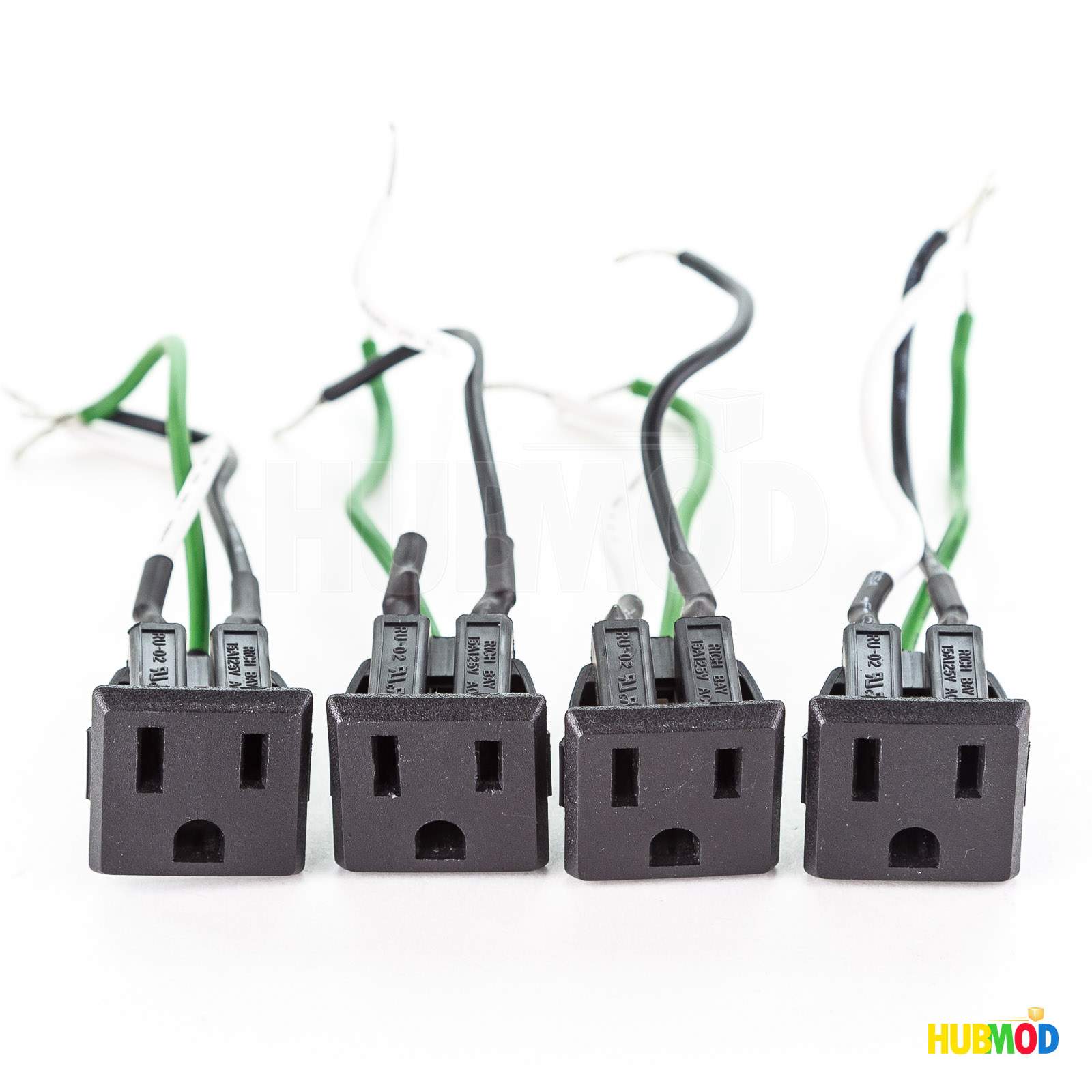 Details about 4X RICH BAY RU-02 AC Plug 15A 125V Socket Outlet Power on