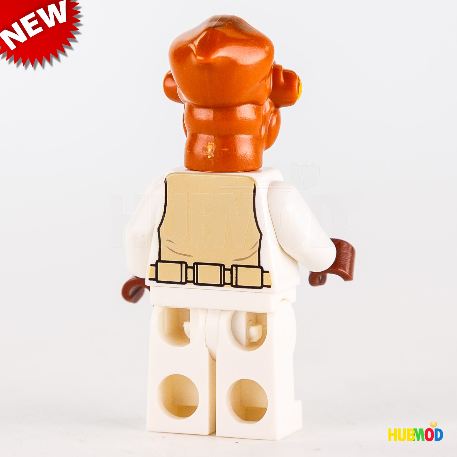 NEW Lego Admiral Ackbar Minifigure Minifig Figure Star Wars 70503 7754 Calamari