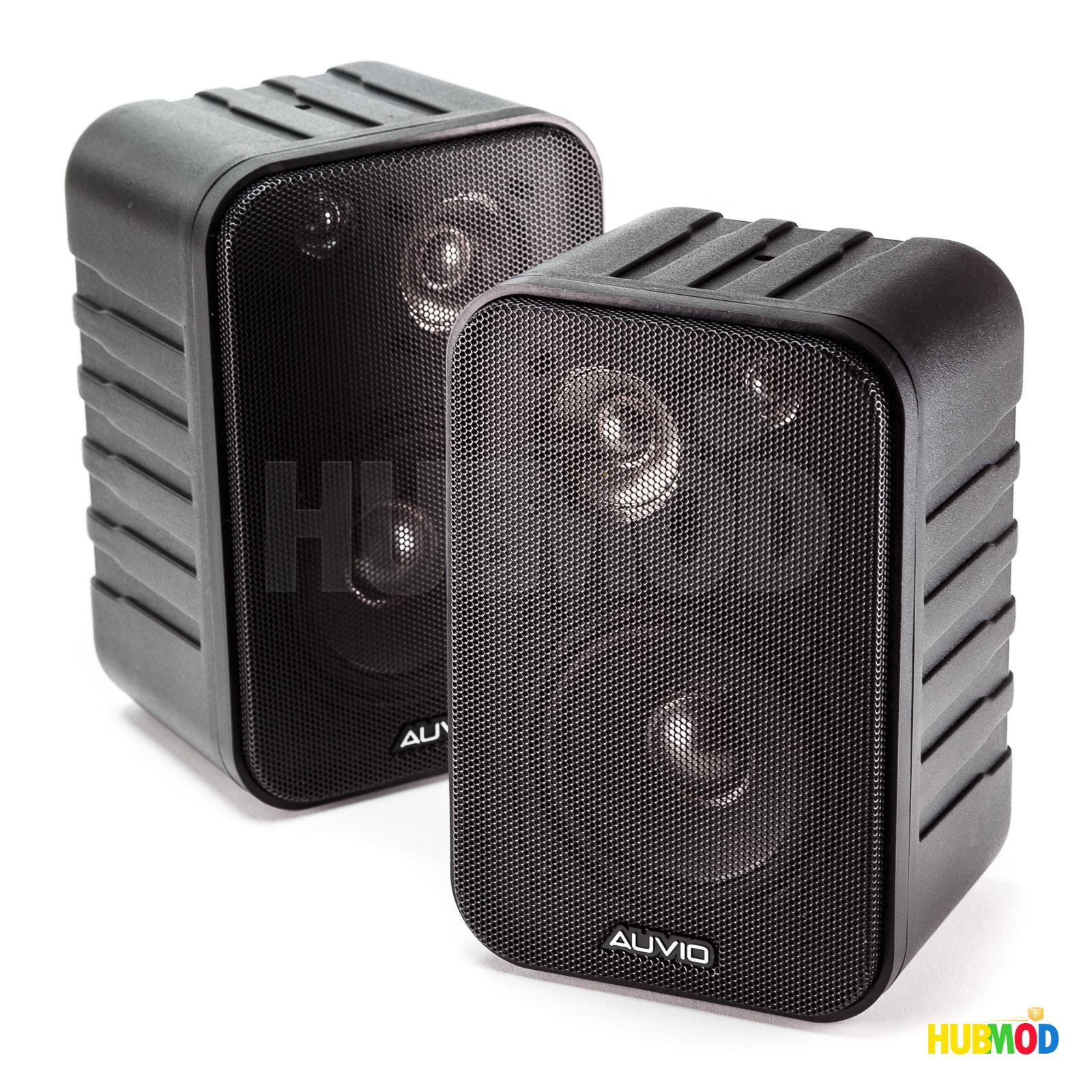 2 Auvio 3 Way Indoor Outdoor Speakers 8H X 5W 45D
