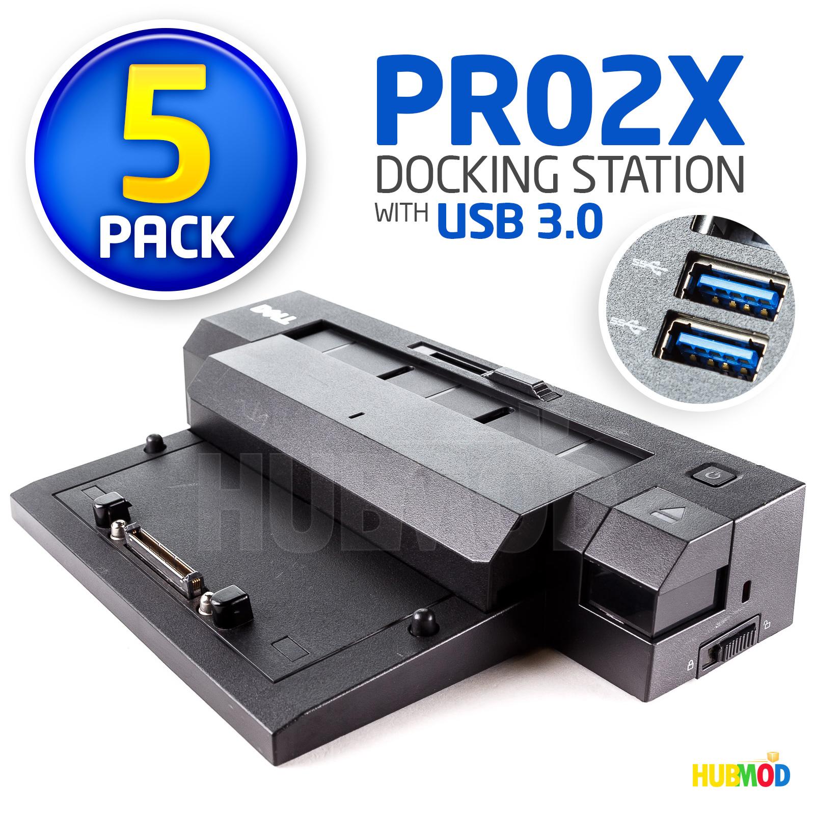 LOT OF 10 DELL E-Port Plus II USB 3.0 Latitude Precision Laptop Docking Station