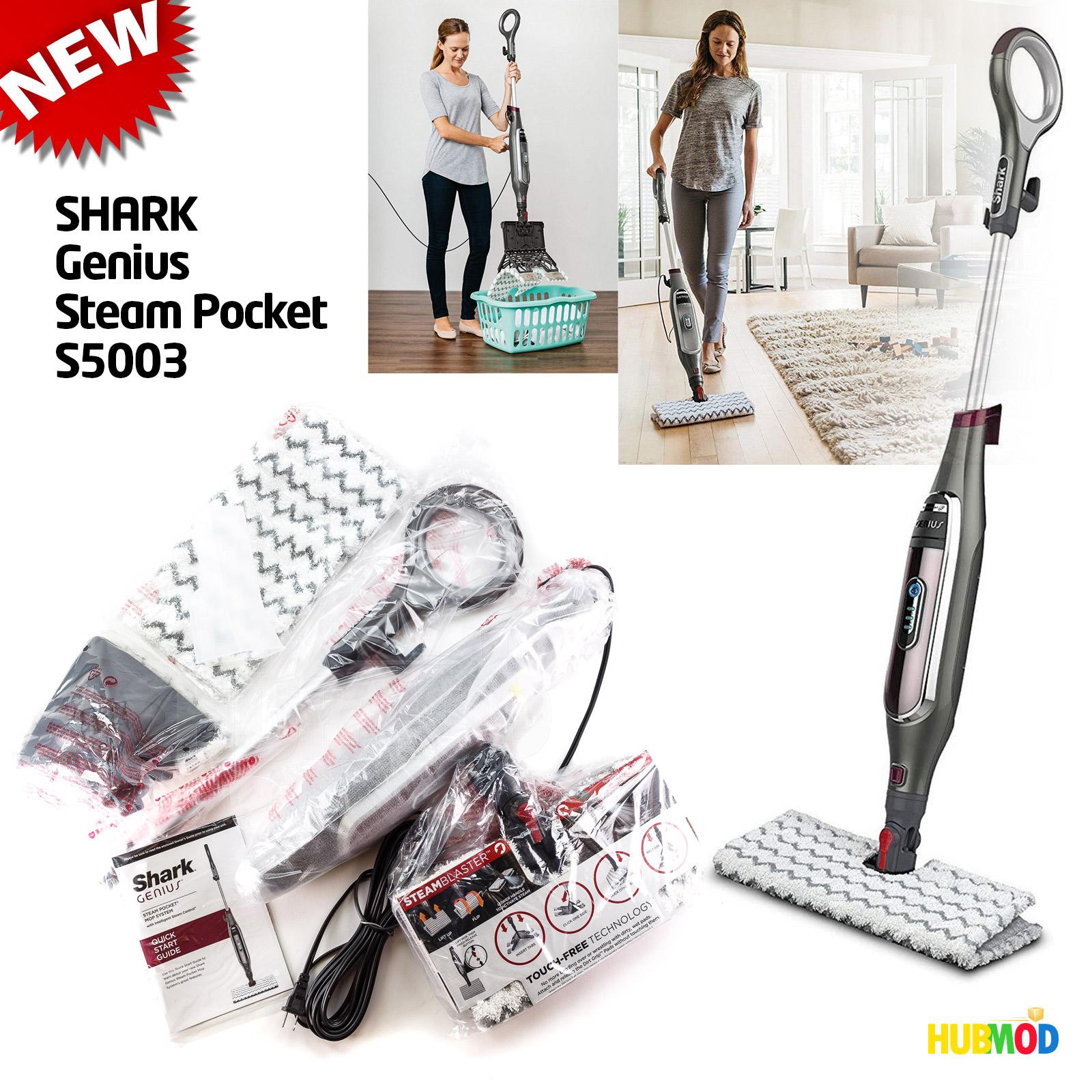 NEW Shark Genius S Steam Cleaner Pocket Mop HardWood Floor - Sharp floor steamer