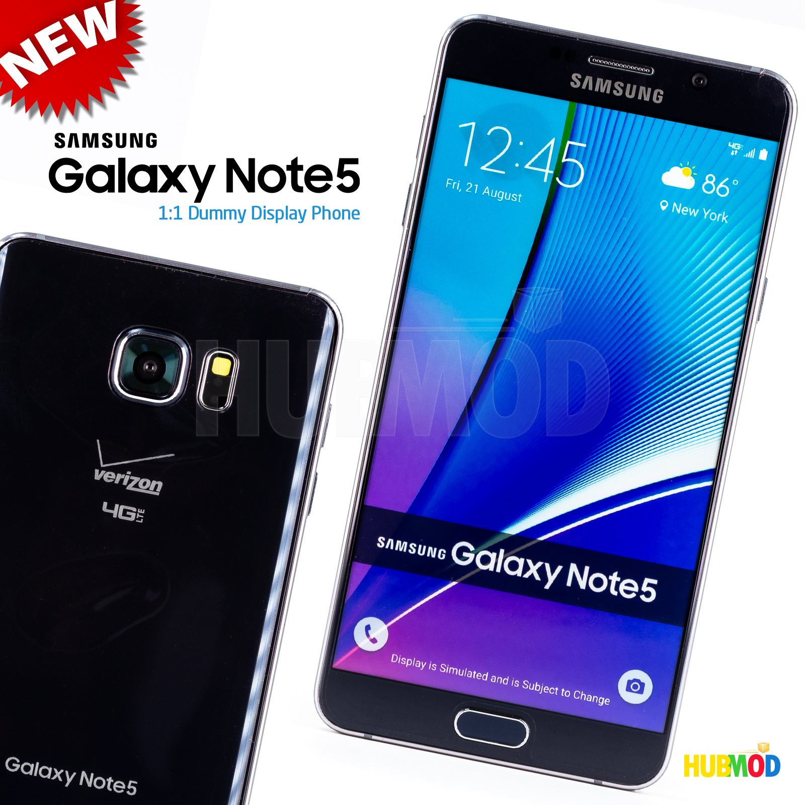 5dd5f3df8cf This dummy phone is the exact same size as the real Galaxy NOTE 5 and has  no internal working parts. Great for Retail Cellular Store Display