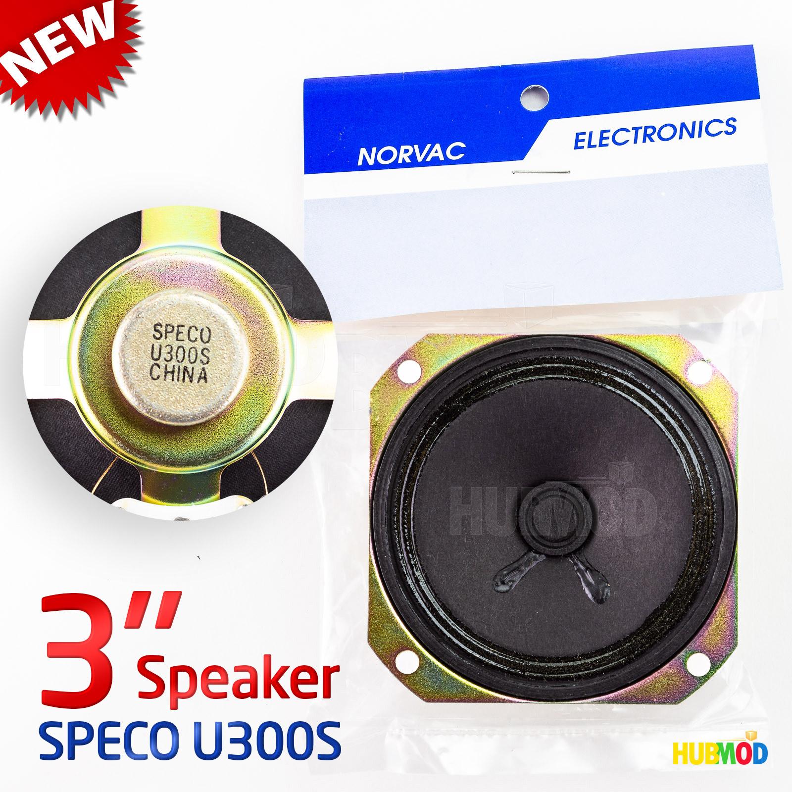 "NEW Speco Universal Miniature Speaker Model U300S 3/"" 8ohm"