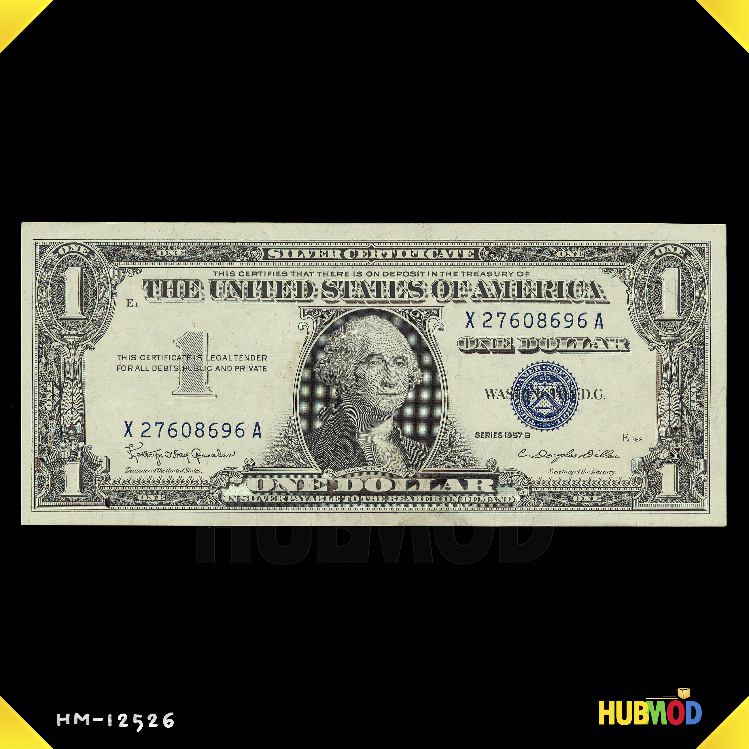 1957 B Series $1 One Dollar Silver Certificate US Note