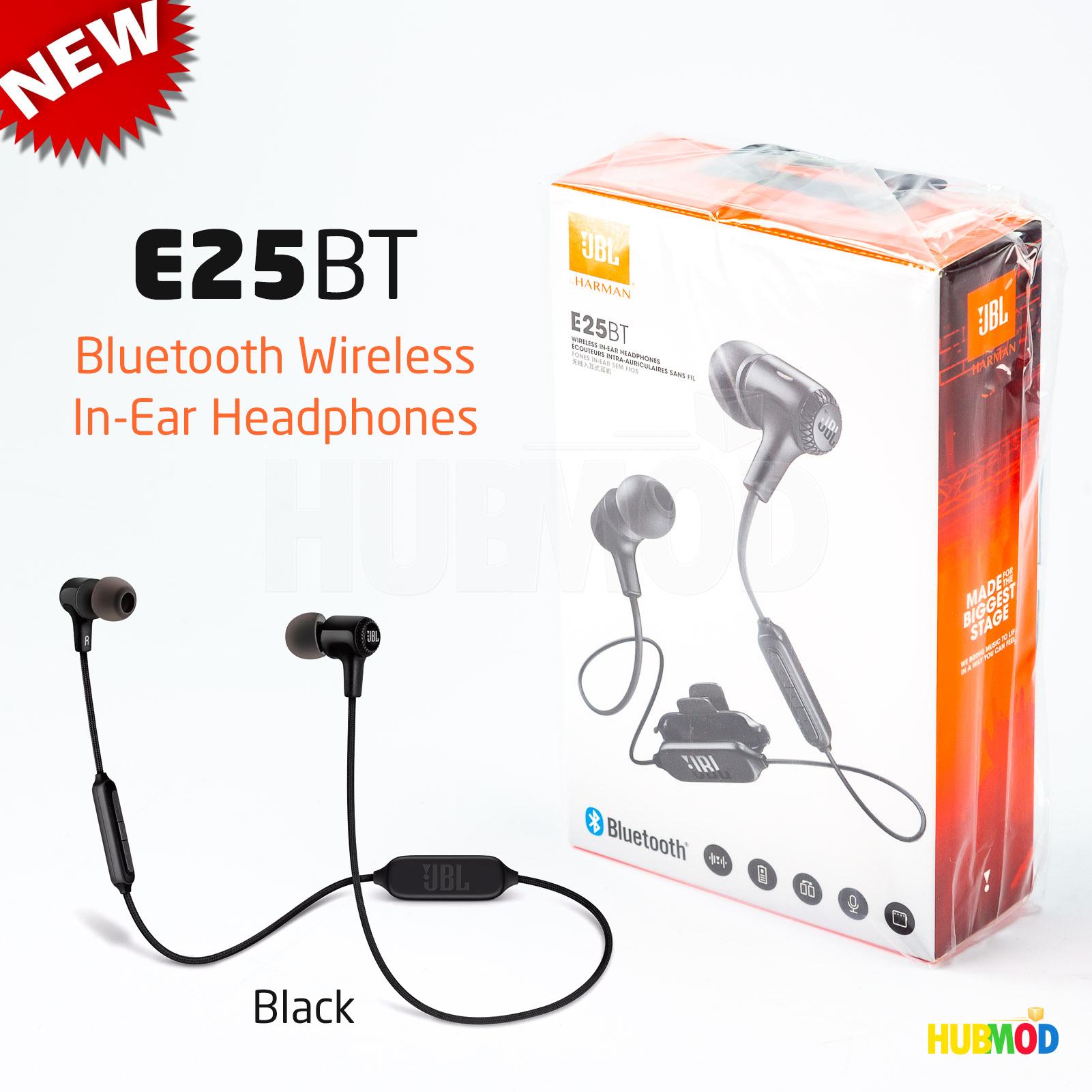 JBL E25BT Earbud Wireless In Ear Headphones Black Bluetooth