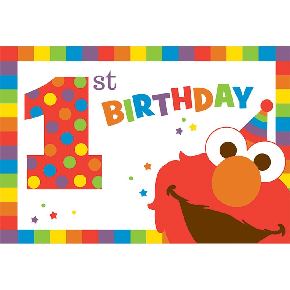 Sesame Street Elmo 1st Birthday Party Invitations With Envelopes 8