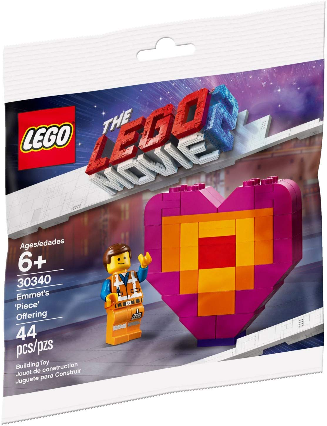 New LEGO The Lego Movie 2 Emmet/'s Piece Offering 30340 44 pcs Ages 6