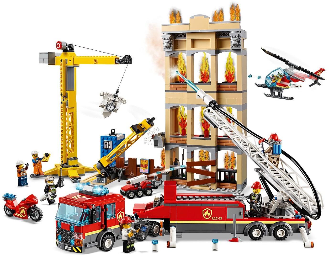 Details about LEGO- CITY ( 60216) DOWNTOWN FIRE BRIGADE ( 943 PCS)