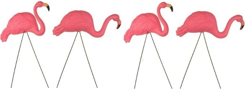 Clic Style Flamingo Yard And Lawn Bird Ornaments Set Of Two Flamingos Are Made Sy Pink Plastic Feature Great Detail