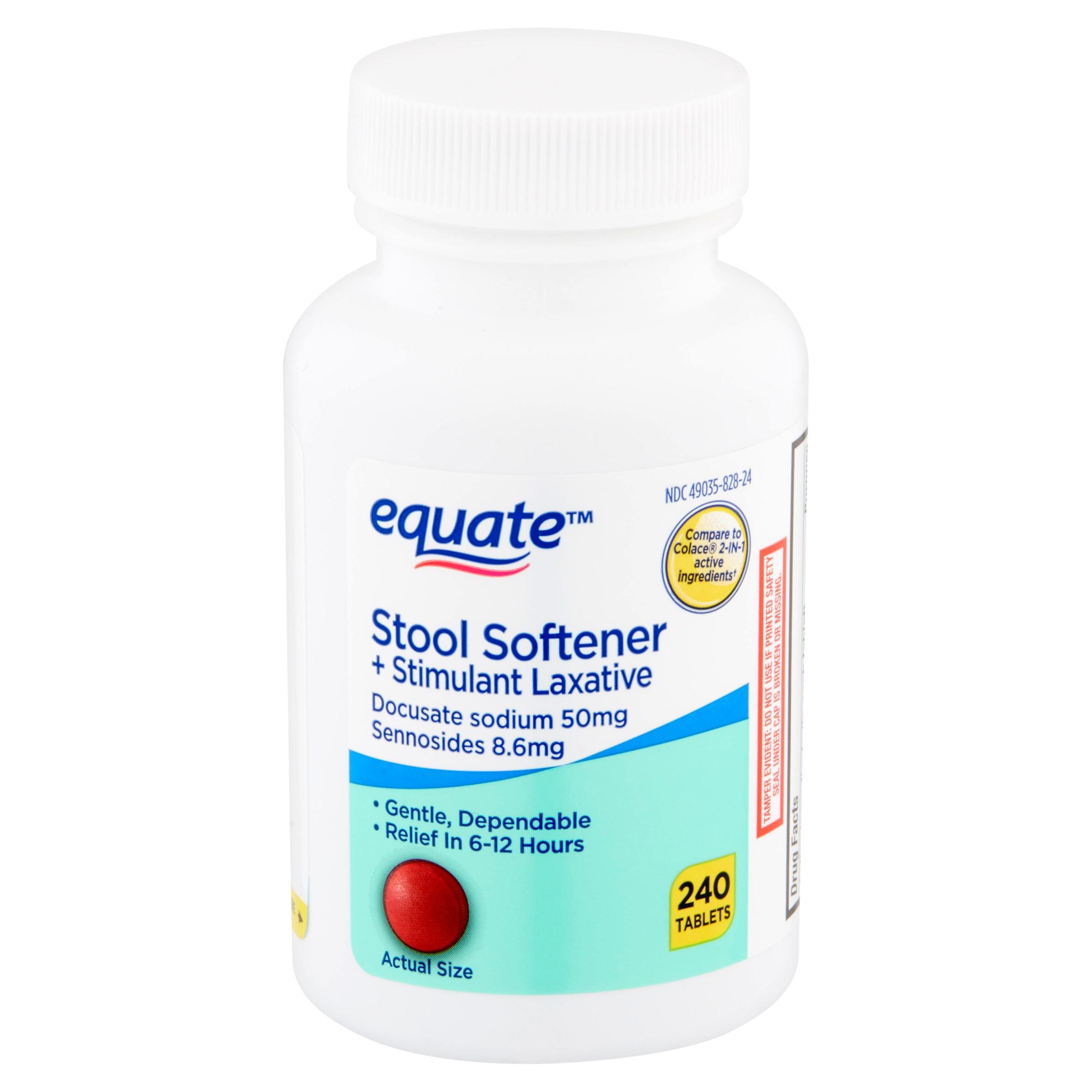 Equate Stool Softener Plus Stimulant Laxative 240 Tablets ...