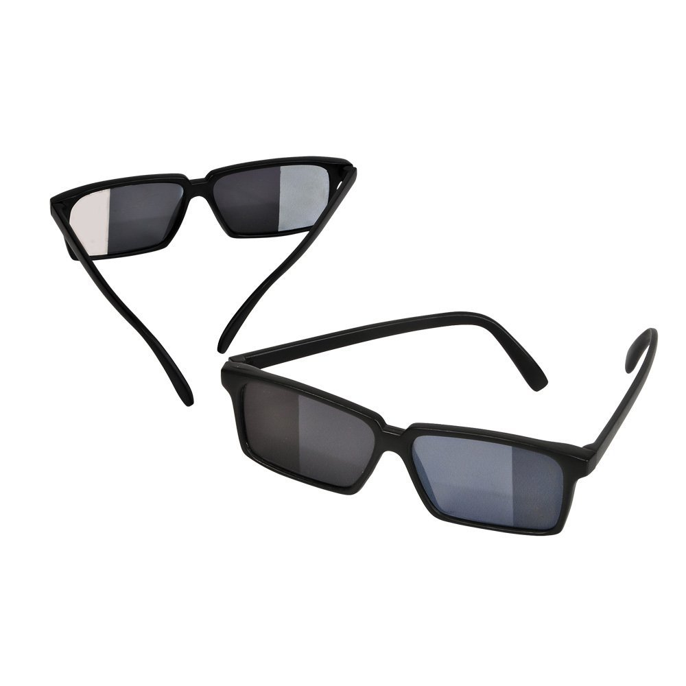eef98e1b15579 Description. Be a master of espionage! These spy sunglasses feature mirrors  on the side ...