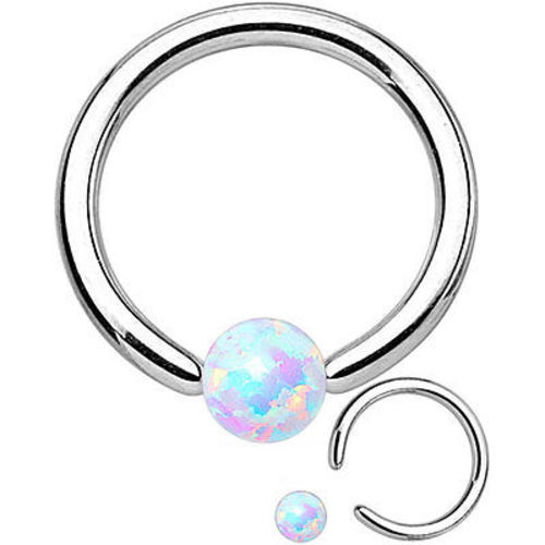 Synthetic-OPAL-STONE-16G-6mm-8mm-Surgical-Steel-Captive-Bead-Ring-Helix-Tragus thumbnail 3