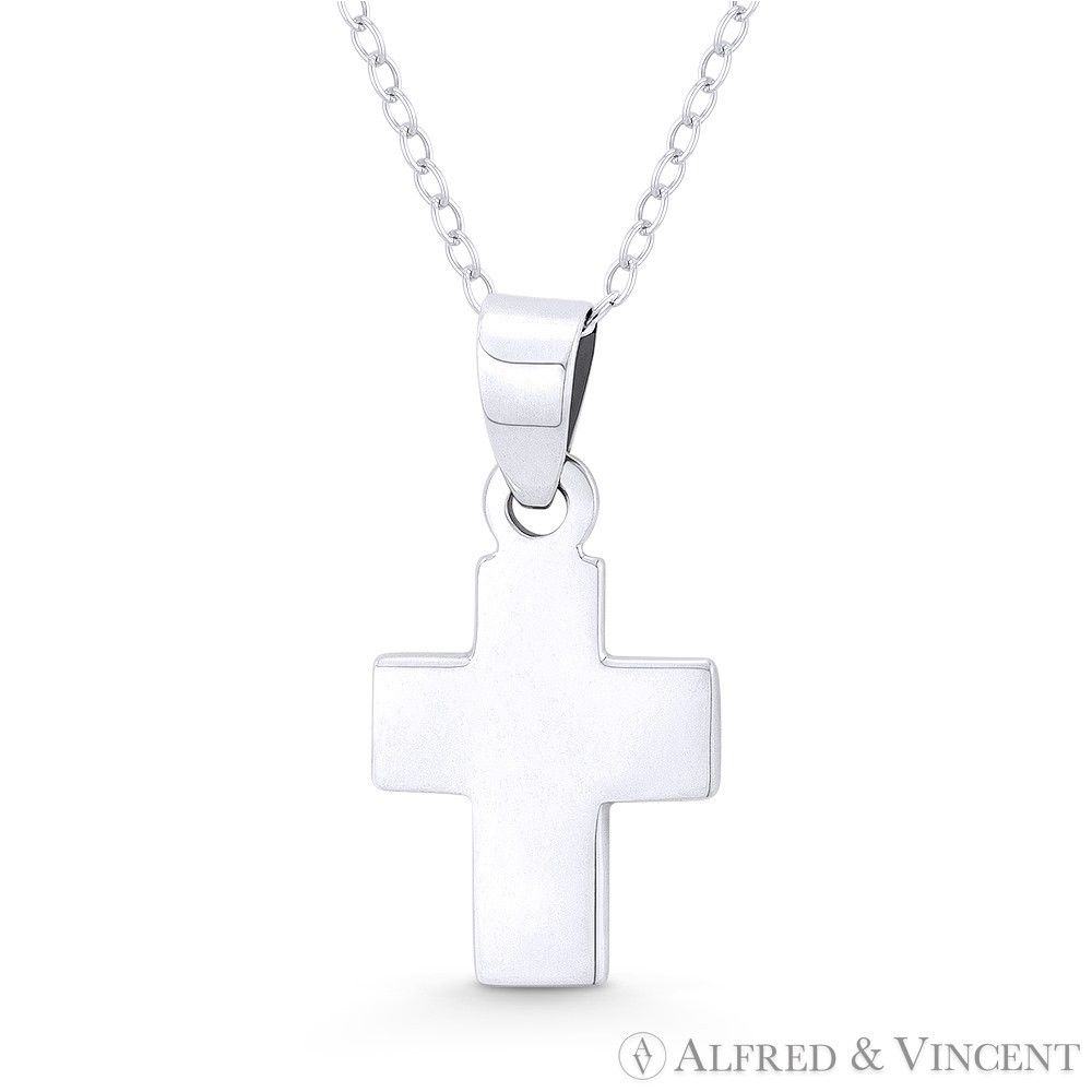 Catholic Crucifix Necklace: Latin Crucifix Catholic Christian Cross Necklace Pendant