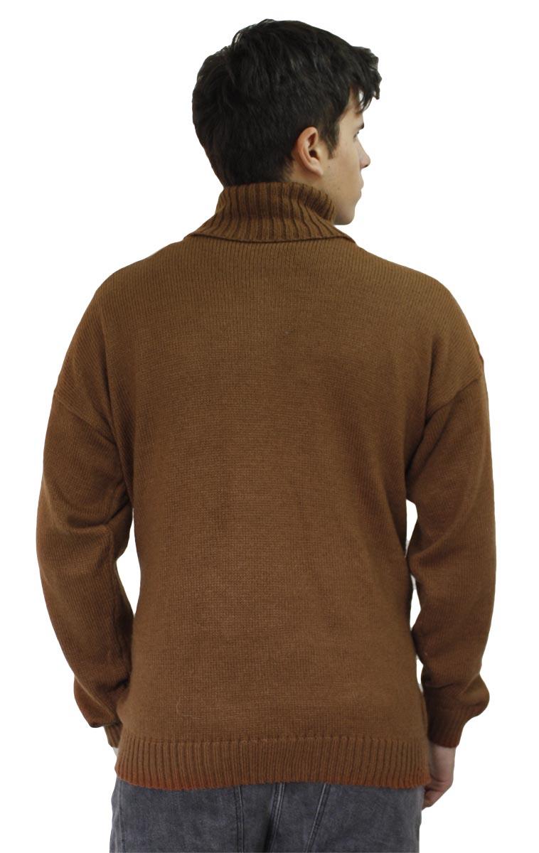 Men/'s Soft Alpaca Wool Knitted Turtleneck Solid Sweater