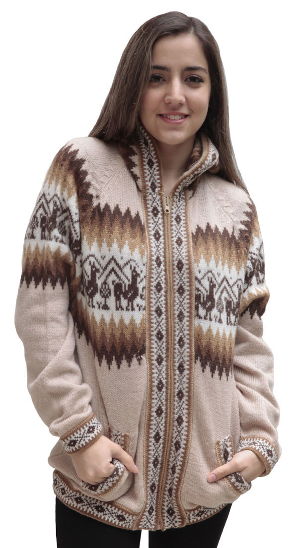 Little-Llamas-Hooded-Alpaca-Wool-Knitted-Jacket-Hoodie-Sweater thumbnail 65