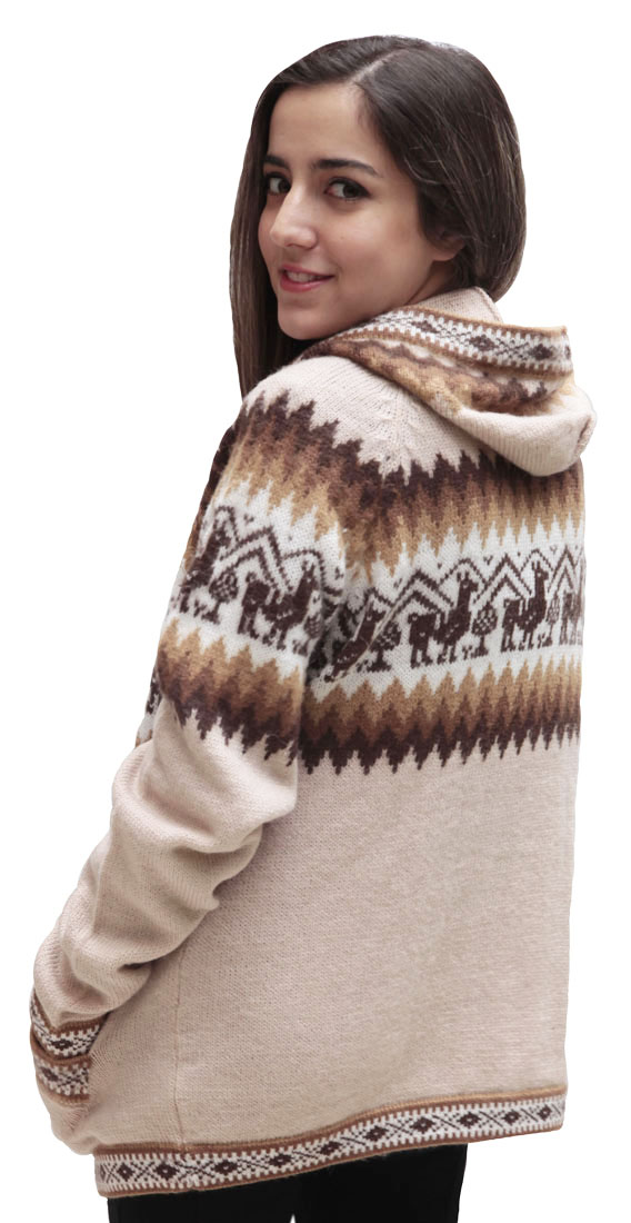 Little-Llamas-Hooded-Alpaca-Wool-Knitted-Jacket-Hoodie-Sweater thumbnail 66