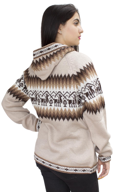 Little-Llamas-Hooded-Alpaca-Wool-Knitted-Jacket-Hoodie-Sweater thumbnail 74