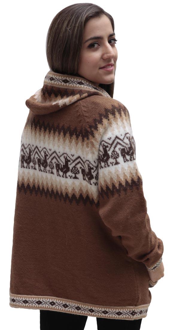 Little-Llamas-Hooded-Alpaca-Wool-Knitted-Jacket-Hoodie-Sweater thumbnail 50
