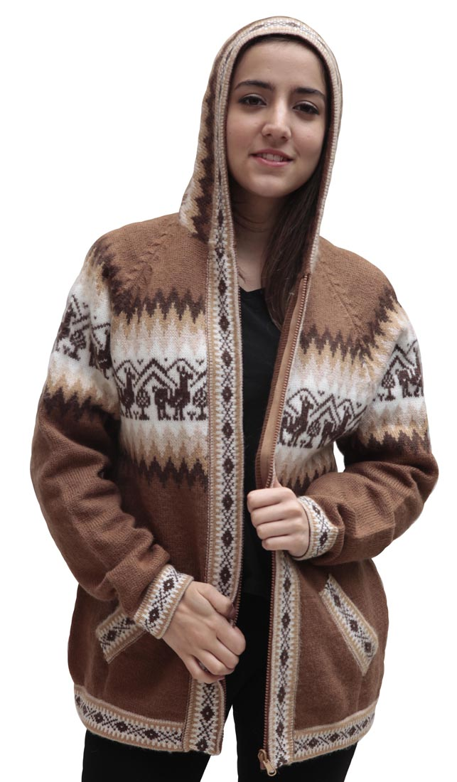 Little-Llamas-Hooded-Alpaca-Wool-Knitted-Jacket-Hoodie-Sweater thumbnail 42