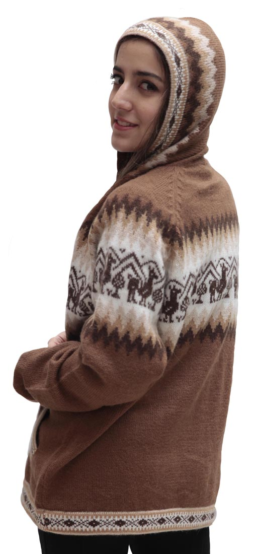 Little-Llamas-Hooded-Alpaca-Wool-Knitted-Jacket-Hoodie-Sweater thumbnail 43
