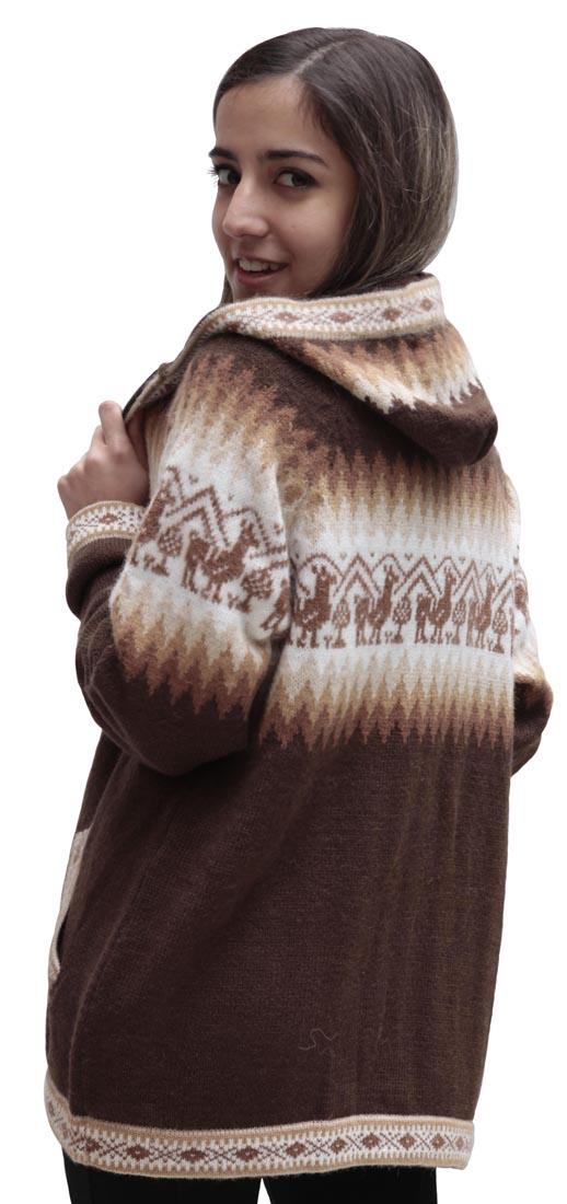 Little-Llamas-Hooded-Alpaca-Wool-Knitted-Jacket-Hoodie-Sweater thumbnail 36