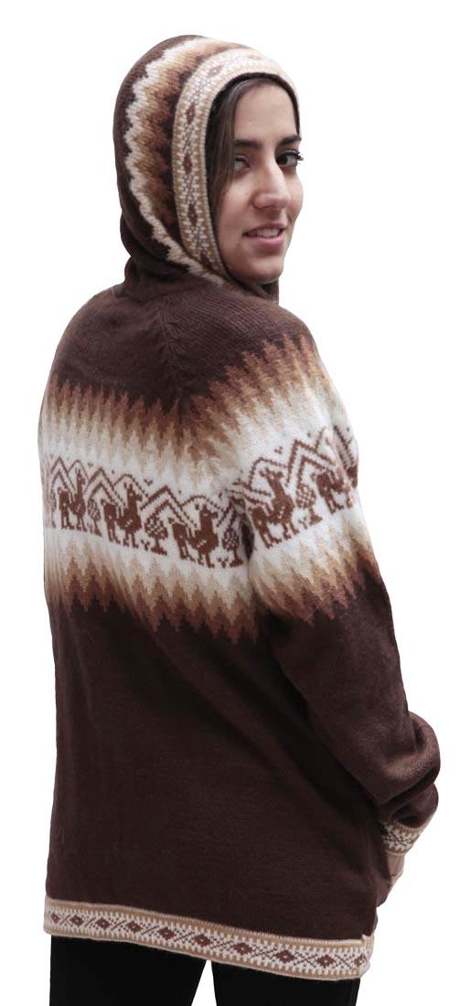 Little-Llamas-Hooded-Alpaca-Wool-Knitted-Jacket-Hoodie-Sweater thumbnail 35
