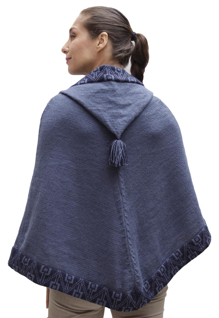 Women-039-s-Alpaca-Wool-Knitted-Yarn-Hooded-Hood-Poncho-Hoodie-Cape-Cloak