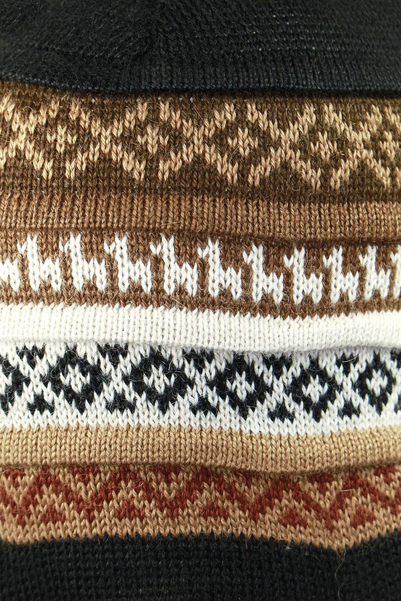 Superfine-100-Alpaca-Wool-Handmade-Intarsia-Chullo-Ski-Hat-Beanie-Aviator thumbnail 87