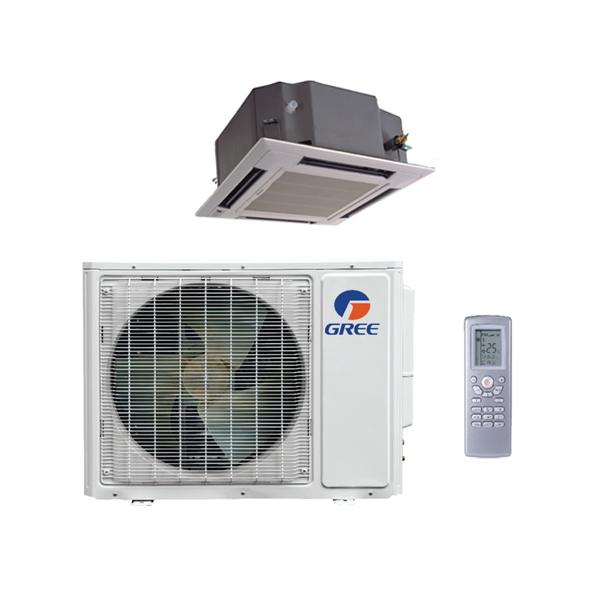 Details about 18,000 Btu 16 Seer Gree U-Match Cassette Single Zone Mini  Split Heat Pump System
