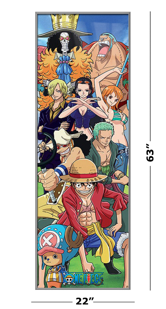 One Piece - Framed Manga TV Show Door Poster (Luffy & His ...