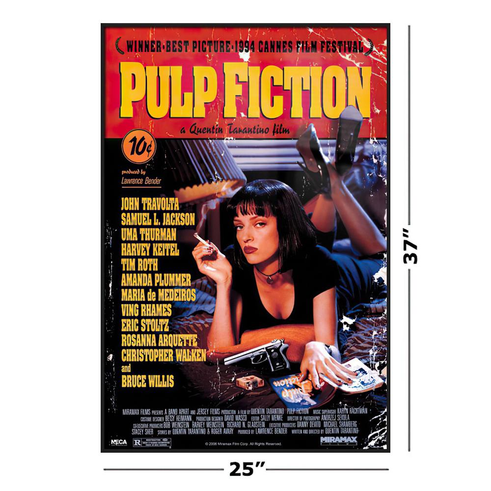 Pulp Fiction   Framed Movie Poster Regular Style   Uma Thurman On ...