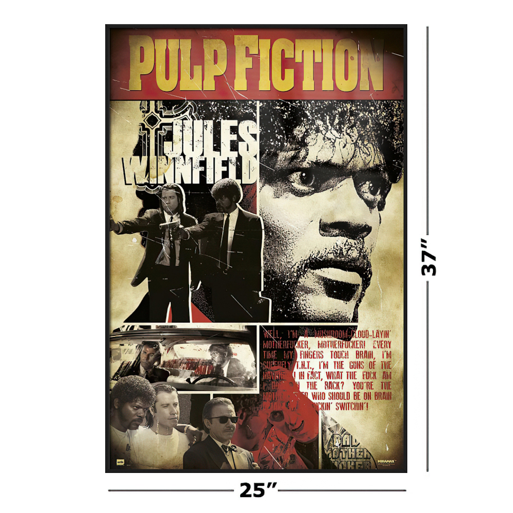 Stock disposal Pulp Fiction   Framed Movie Poster Jules One Bad ...