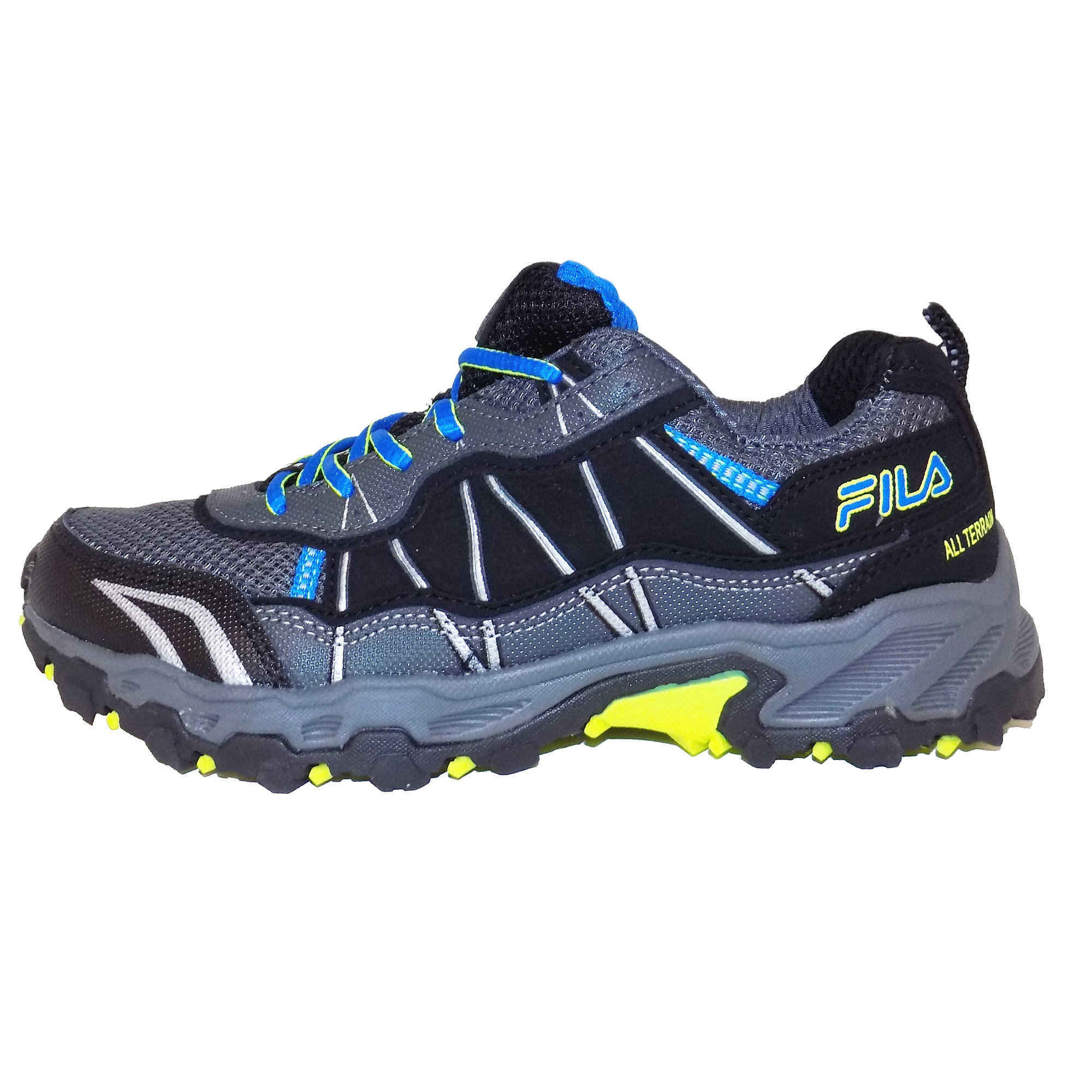 Shoes Black Sneaker Tractile 2 Leather Kids Hiking Top Fila Low Gray EtpqS