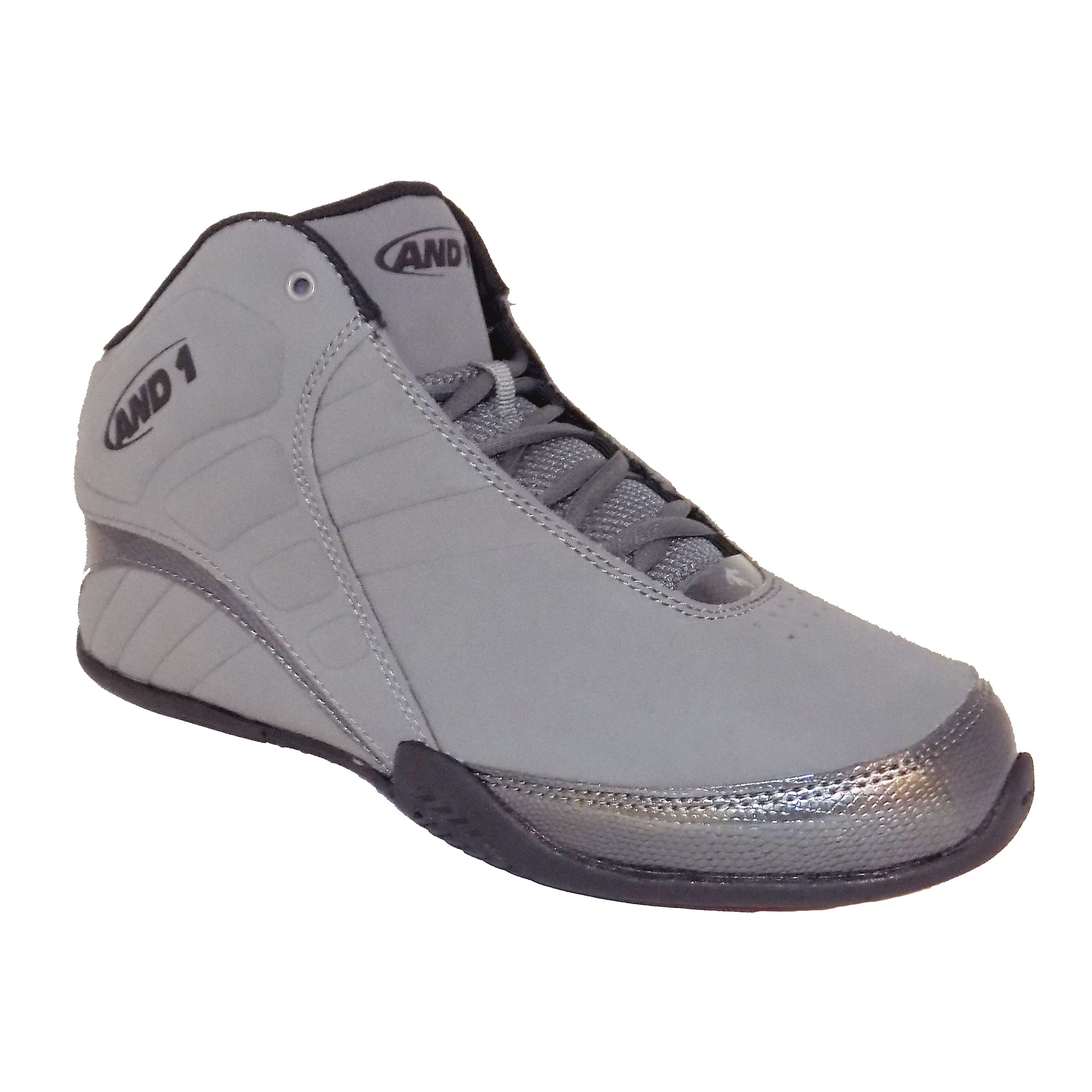 68163a6acae AND1 Rocket 3.0 Mid Men s Grey Black Basketball Running High Top ...